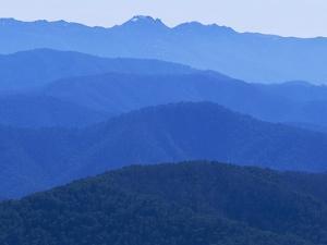 Mountain Ridges at Dawn in Australian Alps by Theo Allofs