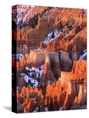 USA, Utah, Bryce Canyon with snow