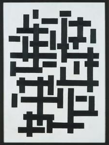 Composition White-Black, 1918 by Theo van Doesburg