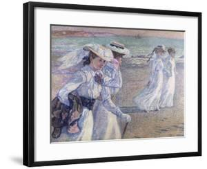 A Walk on the Beach by Theo van Rysselberghe