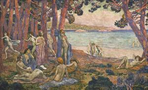 Bathers by the Sea; Baigneuses Au Bord De La Mer by Theo van Rysselberghe