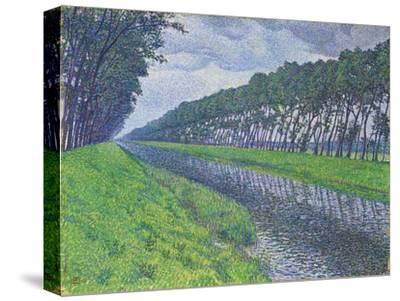 Canal in Flanders; Le Canal En Flandre Par Temps Triste, 1894