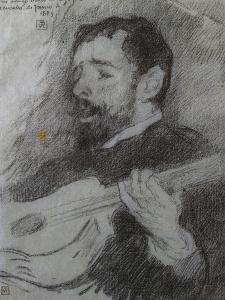 Guitariste by Theo van Rysselberghe