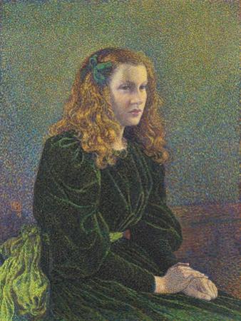 Jeune Femme En Robe Verte (Germaine Marécha), 1893