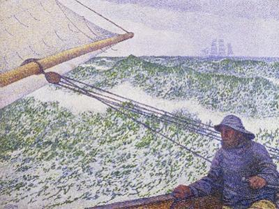 Man at the Helm, Portrait of Signac, 1892