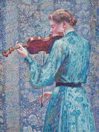 Marie-Anne Weber Playing the Violin, 1903