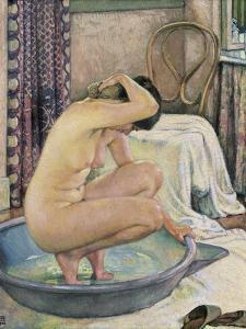 Nude in the Bath by Théo van Rysselberghe