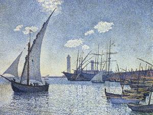 Port De Cette, Les Tartanes, 1892 by Theo van Rysselberghe