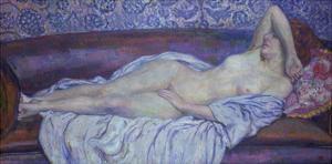 Reclining Nude by Theo van Rysselberghe