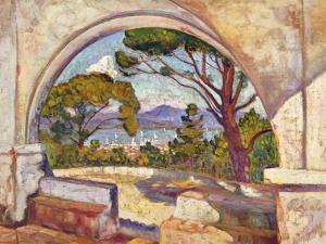Saint Tropez, Vue de La Chapelle St, c.1920 by Théo van Rysselberghe