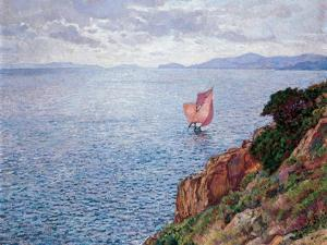 The Red Sail by Théo van Rysselberghe