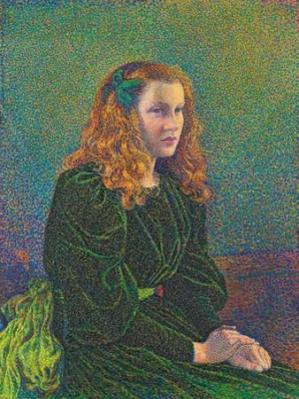 Young Woman in Green Dress. 1893