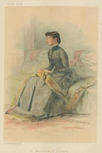 The Marchioness of Waterford, 1 September 1883, Vanity Fair Cartoon by Theobald Chartran