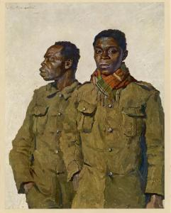 Soldiers from Liberia Fighting with the Allies in World War One by Theodor Baumgartner