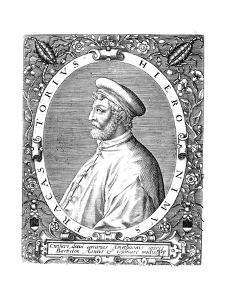 Girolamo Frascatoro, Italian Physician, Poet and Astronomer, Late 16th Century by Theodor de Bry