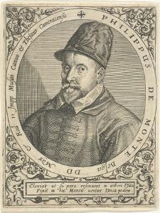 Portrait of the Composer Philippe De Monte (1521-160), C. 1598 by Theodor de Bry