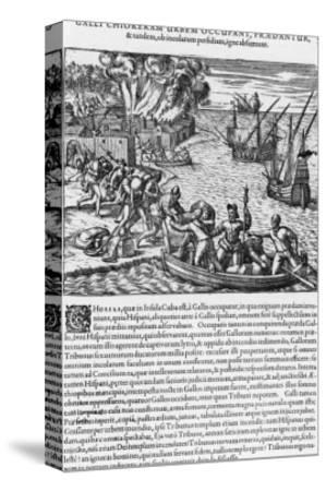 The French Sack Loot and Burn the Spanish-Held Town of Chorera
