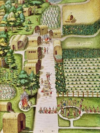 "The Village of Secoton, from ""Admiranda Narratio..."", Published by Theodore de Bry"