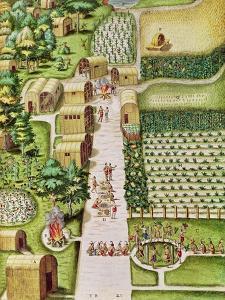 "The Village of Secoton, from ""Admiranda Narratio..."", Published by Theodore de Bry by Theodor de Bry"