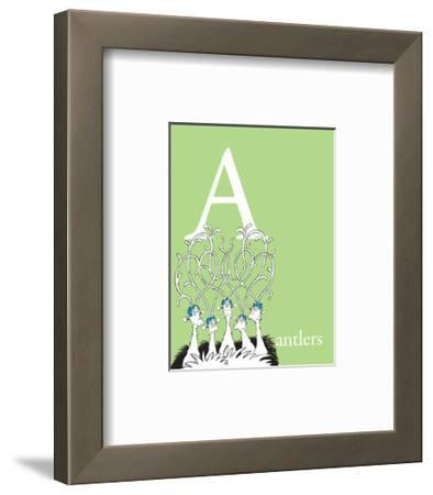 A is for Antlers (green)
