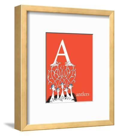 A is for Antlers (red)