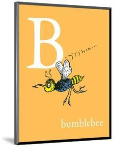 B is for Bumblebee (orange) by Theodor (Dr. Seuss) Geisel