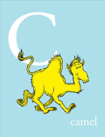 C is for Camel (blue)