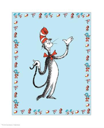 Cat in Hat Blue Border Collection I - The Cat in the Hat (blue bordered)