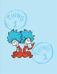 Cat in the Hat Blue Collection II - Things 1 & 2 Back to Back (blue) by Theodor (Dr. Seuss) Geisel