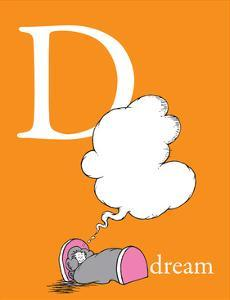 D is for Dream (orange) by Theodor (Dr. Seuss) Geisel
