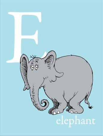 E is for Elephant (blue) by Theodor (Dr. Seuss) Geisel