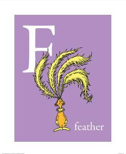 F is for Feather (purple) by Theodor (Dr. Seuss) Geisel
