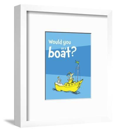 Green Eggs Would You Collection I - Would You on a Boat? (blue)
