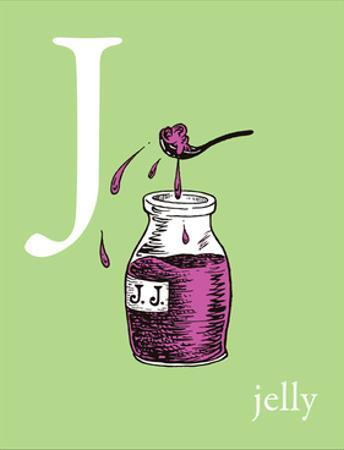 J is for Jelly (green) by Theodor (Dr. Seuss) Geisel