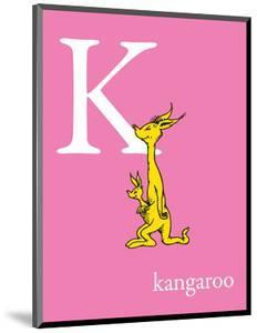 K is for Kangaroo (pink) by Theodor (Dr. Seuss) Geisel