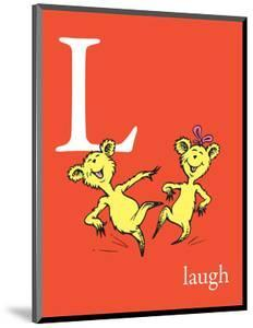 L is for Laugh (red) by Theodor (Dr. Seuss) Geisel