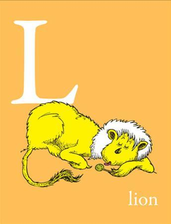 L is for Lion (orange) by Theodor (Dr. Seuss) Geisel