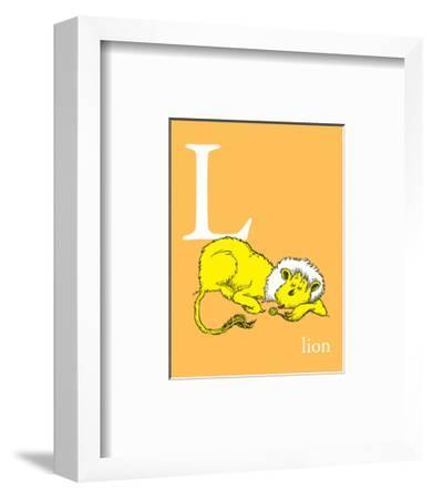 L is for Lion (orange)