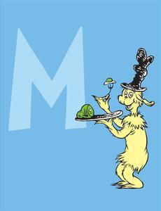 M - I Do So Like Them, Sam I Am. (on blue) by Theodor (Dr. Seuss) Geisel