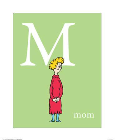 M is for Mom (green) by Theodor (Dr. Seuss) Geisel