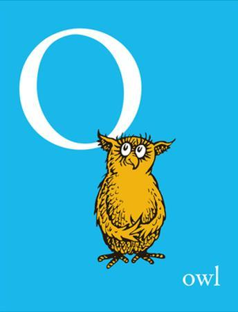 O is for Owl (blue) by Theodor (Dr. Seuss) Geisel