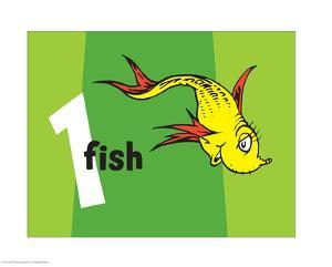 One Fish Two Fish Collection I - One Fish (green) by Theodor (Dr. Seuss) Geisel