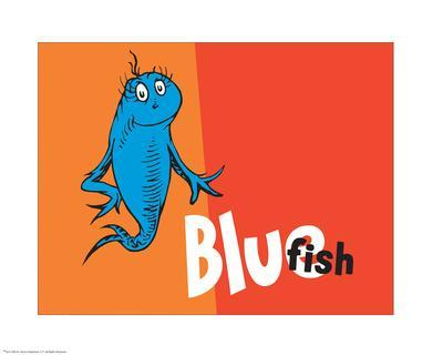 One Fish Two Fish Collection IV - Blue Fish (orange)