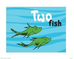 One Fish Two Fish Ocean Collection II - Two Fish (ocean) by Theodor (Dr. Seuss) Geisel