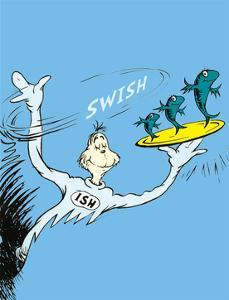 One Fish, Two Fish, Red Fish, Blue Fish (on blue) by Theodor (Dr. Seuss) Geisel