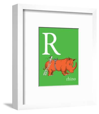 R is for Rhino (green)