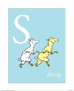 S is for Sheep (blue) by Theodor (Dr. Seuss) Geisel