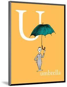 U is for Umbrella (orange) by Theodor (Dr. Seuss) Geisel