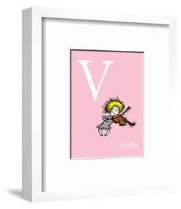 V is for Violin (pink) by Theodor (Dr. Seuss) Geisel