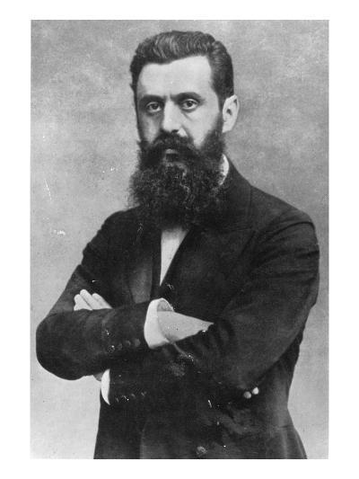 Theodor Herzl, 1903 (B/W Photo)- Austrian Photographer-Giclee Print